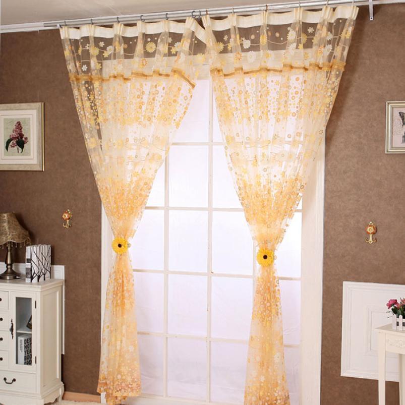 a estrenar ventana cortina panel de puerta cortina de ventana cortinas de tul floral pura bufanda cenefas cortinas para la sala de estar moderna en
