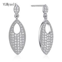 2019 new 925 Sterling Silver elegant drop Earrings for Woman cubic zirconia jewelry luxury oorbellen voor vrouwen