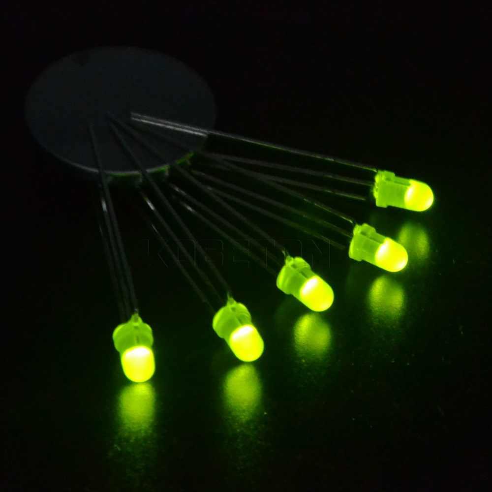 100 pièces lumière LED 3mm 3 broches ronde diffuse rouge et vert deux couleurs Anode commune Diode LED Diode électroluminescente