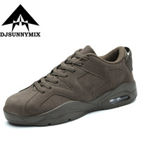 DJSUNNYMIX Brand 2017 Sale Running Shoes New Men Sneakers Man Suede Outdoor Sports Flat Run Walking