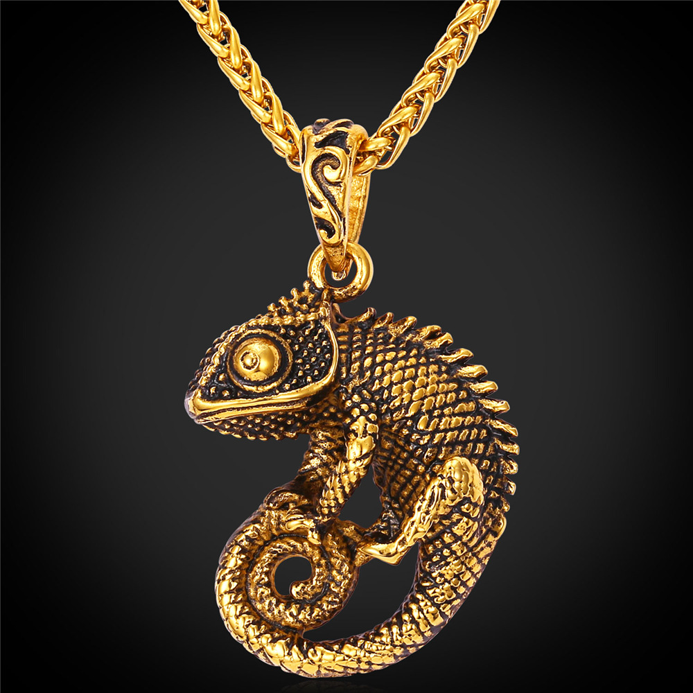 Kpop 2016 Retro Vintage Chameleon Necklace Gold Color Fancy Design Fashion Jewelry Necklace Pendants For Women Men P219 Pendants For Women Designer Necklacefashion Necklace Aliexpress