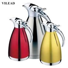 VILEAD 4 Color Coffee Thermos Mug Stainless Steel Grip Teapot Vacuum Flasks Termos Cups Garrafa Termica Hot Water Bottle