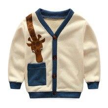 2016  spring autumn Girls Kids boys  cotton Giraffe cardigan jacket  comfortable cute baby Clothes Children Clothing wholesale