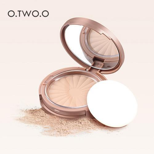 O.TWO.O Rose Gold Pressed Powder Lasting Oil-control Foundation Wet And Dry Makeup Foundation Highlighter Brighten Skin image