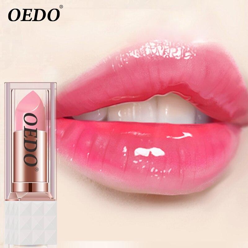 OEDO Rose Peptid Farbe Ändern Lip Balm Alter Prävention Spalte Lippen Frostschutz Reparatur Beschädigt Lip Feuchtigkeitsspendende Lippenstift Lippenstift