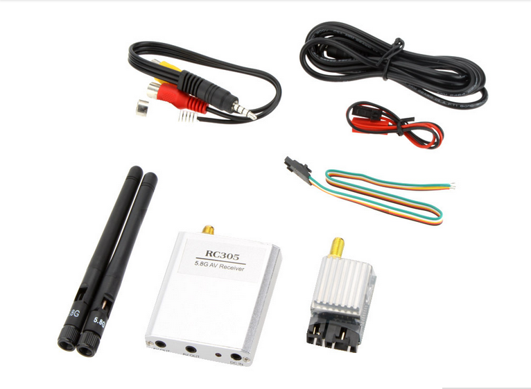 Boscam 5.8Ghz 200mW FPV Audio Video Transmitter Wireless Video Receiver RC305 8 Channel AV TX RX 2000M Range for RC MultiCopter