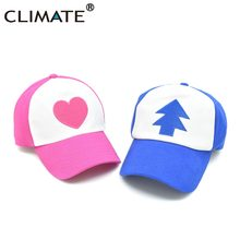 CLIMATE Cool New Spring Summer Gravity Falls U.S Cartoon Mabel Dipper Pines Cosplay Cool Baseball Mesh Caps Adjustable Sport Hat(China)