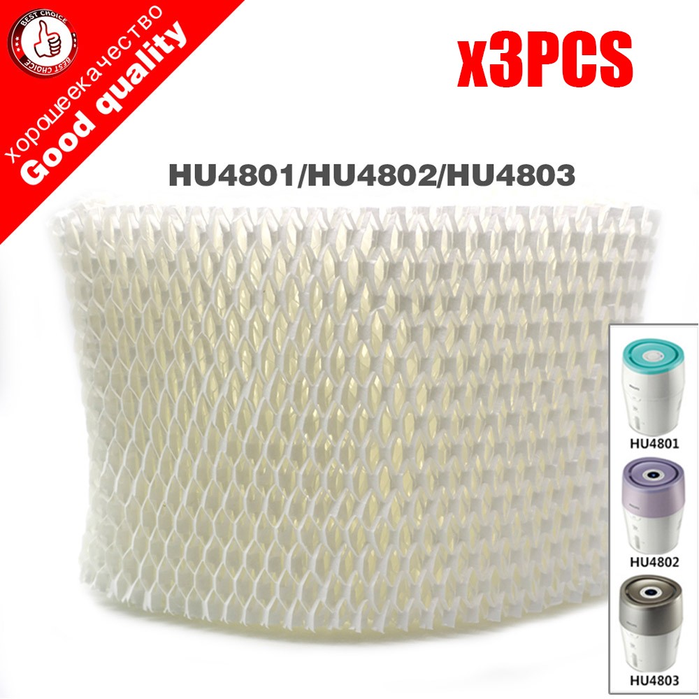 Top Sale 3Pcs Air Humidifier Filters Adsorb Bacteria And Scale For Philips HU4801 HU4802 HU4803 HU4811 HU4813 Humidifie