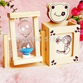 children gifts Wooden hourglass pen container Wooden timer creative furnishing articles Students present