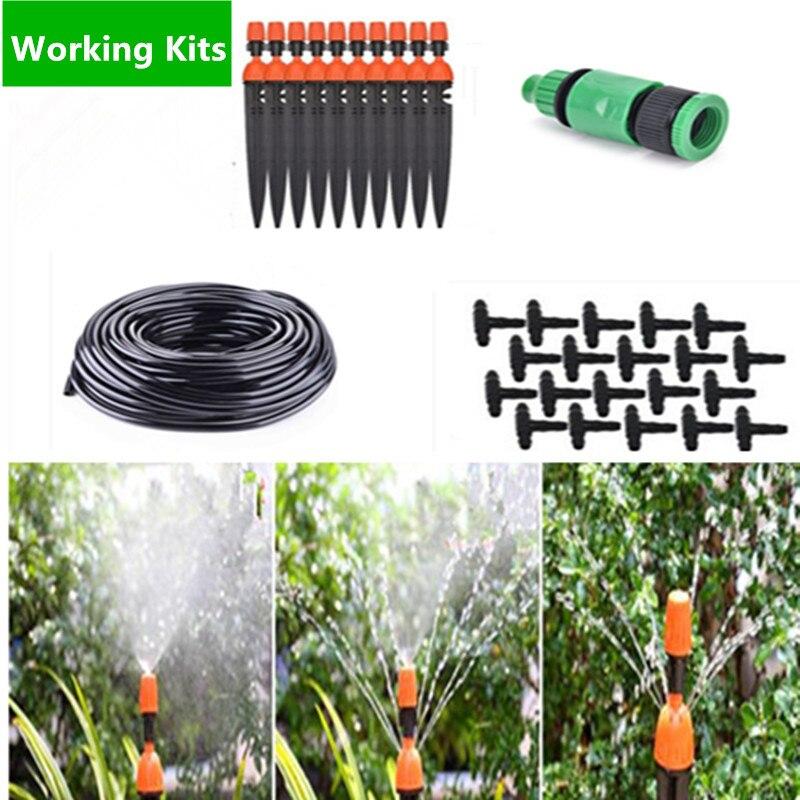 25 m bricolage Micro système d'irrigation goutte à goutte brumisateur arroseur et goutteur plante auto arrosage jardineau arrosage Kits BB01