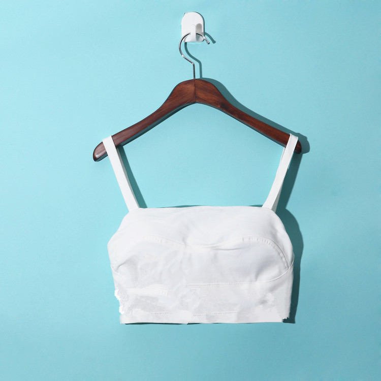 S~XL Solid Women Black White Crop Tops Sexy Spaghetti Strap European Skinny Bustiers Corsets WITH PADDED