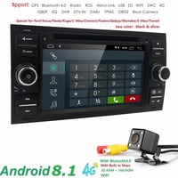 2Din Android 7.1 dab + dvd плеер автомобиля в тире для Ford Transit фокус подключения S MAX Kuga Mondeo С Quadcore Wi Fi 4 г GPS Bluetooth
