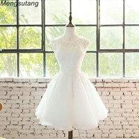 Robe de soiree White Embroidery Lace short banquet ball gown Vestidos sexy evening dress Vestidos de festa Party Prom dresses