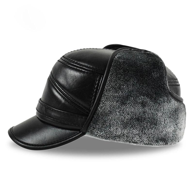 b6e4cb82d38 HL164-F Genuine leather baseball cap hat men s brand new cow skin ...