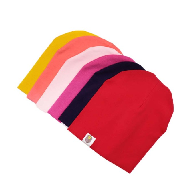 Solid Color Baby Hats Unisex Spring Autumn Toddler Infant Caps Colorful Cotton Soft Hats Beanie Baby Clothing Accessories