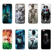 For iPhone 7 8 Plus Phone Case Cool Star Wars Starwars Design Soft Rubber Cellphone Case Cover For iPhone 8 7 Plus Fundas Coque(China)