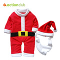 Santa Baby Clothes Soft Cotton Christmas Infantil Winter Clothing Jumpsuit Snowsuit Baby Boys Girls Rompers Newborn Kids Pajama