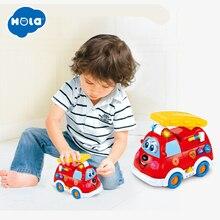 купить HOLA 526 Spanish & English Language Electric Fire Truck Toy with Flashing Light&Music Kids Early Learning Educational Toys дешево