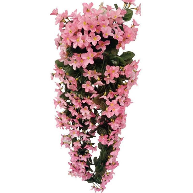 7 цветов на выбор, шелковые искусственные цветы с листьями, шелковые настенные лозы, искусственные фиолетовые цветы для декора балкона VWF2078 - Цвет: 5