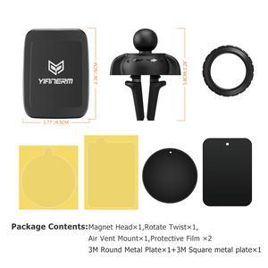 Image 5 - Yianerm חזק מגנט מחזיק אוויר Vent רכב הר עבור iPhone Xs Mas 7 8 סמסונג מגנטי מחזיק עבור טלפון ב רכב טלפון Stand