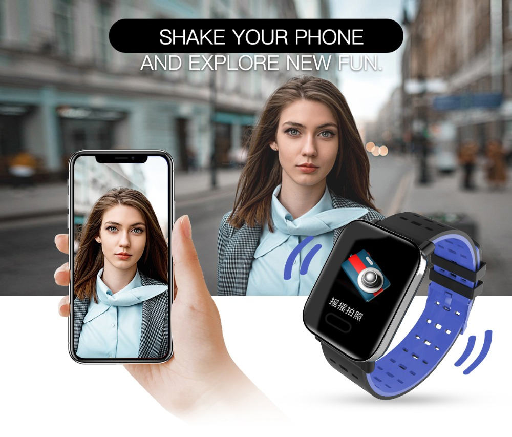 Q6 Smartwatch IP67 Waterproof Wearable Device Bluetooth Pedometer Heart Rate Monitor Color Display Smart Watch For AndroidIOS (10)