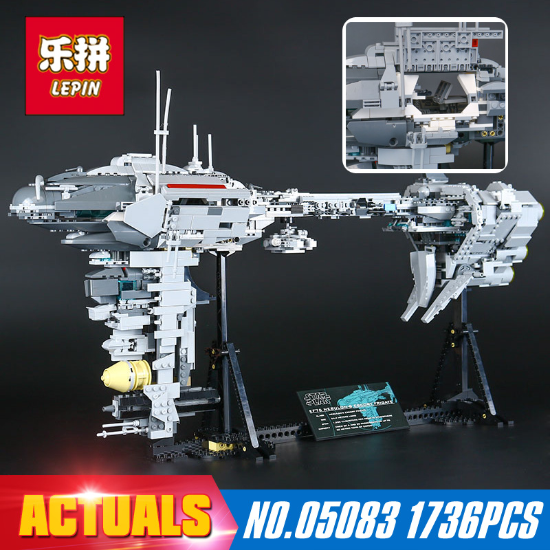 Star Wars DHL 1736Pcs Lepin 05083  Dental warships Educational Building Blocks Bricks Toys Model to Holiday Gift lepin 22001 pirate ship imperial warships model building block briks toys gift 1717pcs compatible legoed 10210