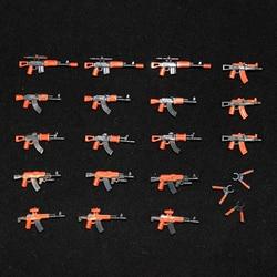 Военные строительные блоки обойма оружие спецназ полицейский солдат фигурки WW2 пистолеты LegoINGly строительные фигурки армейские аксессуары ...