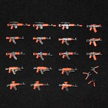 Военные строительные блоки, набор оружия, армейская рука, спецназ, полицейский солдат, фигурки WW2, оружие, части, строитель, фигурки, армейские аксессуары, игрушки