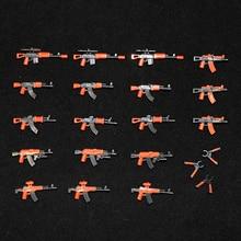 كتل بناء عسكرية حزمة أسلحة الجيش الذراع SWAT جنود الشرطة أرقام WW2 البنادق أجزاء منشئ أرقام الجيش اكسسوارات اللعب