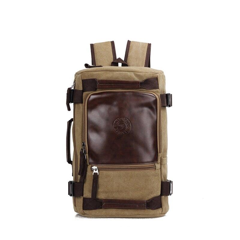 TOP POWER Large Capacity Brand Man Canvas Backpack Multi Function Rucksack Laptop Computer Male Backpack Functional Shoulder Bag