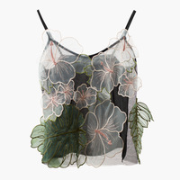 2018 Spring Summer New Stereoscopic Flower and Leaf Sexy Camisole Inner Vest and Outer Tank Tops