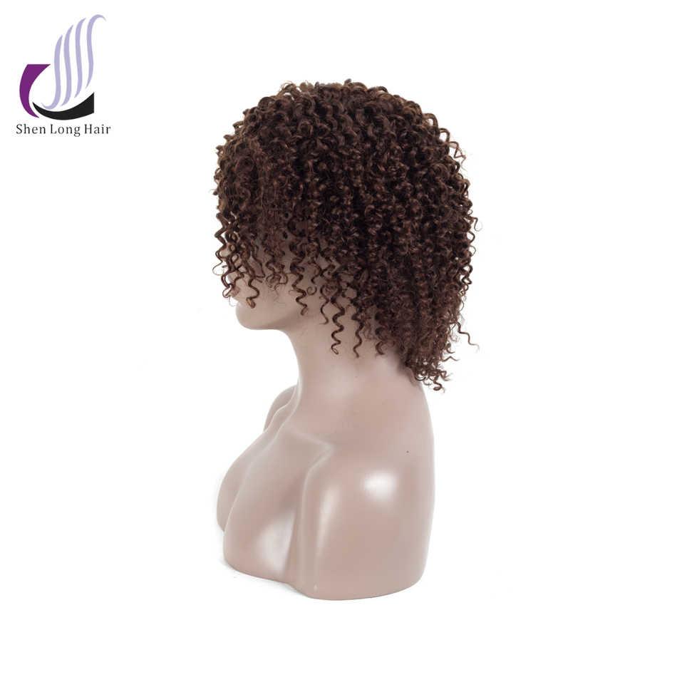 SHENLONG, людской волосяной парик, с завитыми по-африкански волосами малазийские волосы с однонаправленной кутикулой парик для черных Для женщин Средний Размеры Искусственные парики Бесплатная доставка