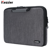 iCozzier 11.6/13./15.6/17.3 inch handle electronic accessories strap laptop sleeve case bag protective for 15.6 notebook