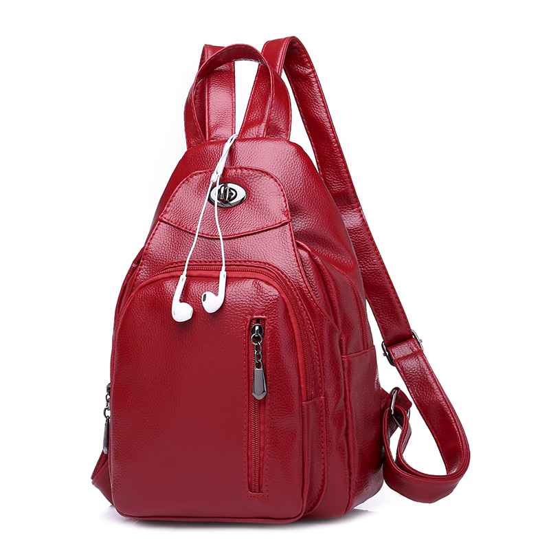 Preppy Young Girl Small Backpacks for School Bagpacks Fashion Trend  Rucksacks Bags 2018 Women Red Black 9301dc952c370