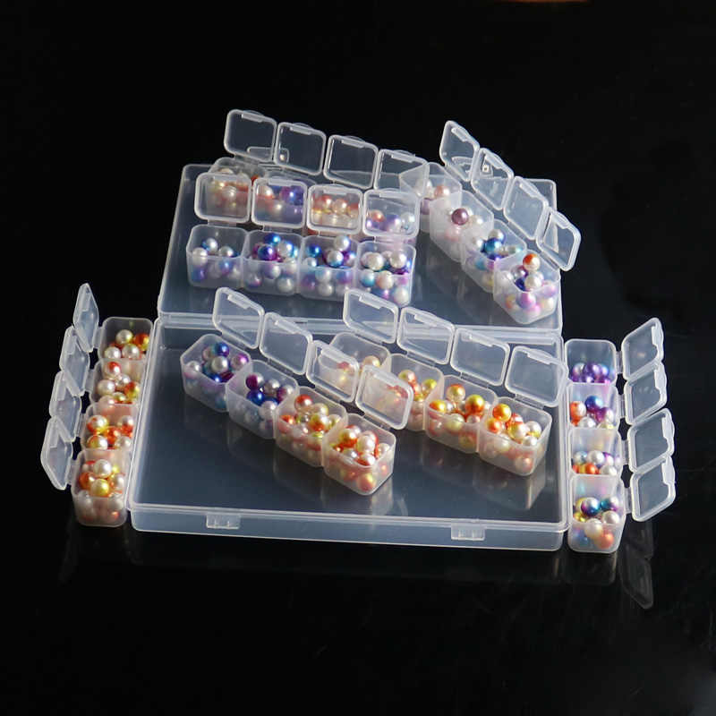 28 Slots Adjustable Plastic Storage Box Storage Boxes Box For Jewelry Diamond Embroidery Craft Bead Pill Storage Tool Case