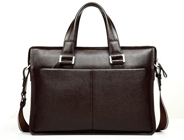 Men shoulder messenger bag men's genuine leather Business briefcase, man bag for 15.6' laptop computer 2018 male handbag 3