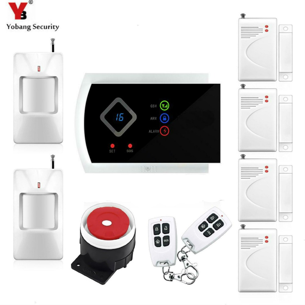 Yobang Security APP GSM Alarm Systems Security Motion Sensor Home/house Security Alarm 99 Wireless Zones Alarme Maison Sans Fil yobang security english russian voice home alarm app gsm alarm system 99 wireless zones wireless wired house alarm smart home
