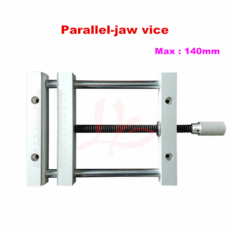 milling machine plain vice flat tongs 140mm screw precision parallel-jaw vice for cnc router cnc tool