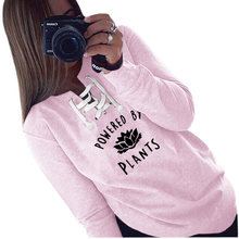 """Amazing """"Powered By Plants"""" women's hoodie"""