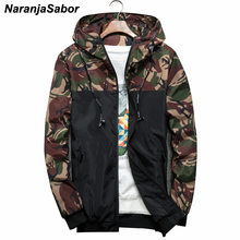 NaranjaSabor Spring Autumn Men s Jackets Camouflage Military Hooded Coats Casual Zipper Male Windbreaker Men Brand