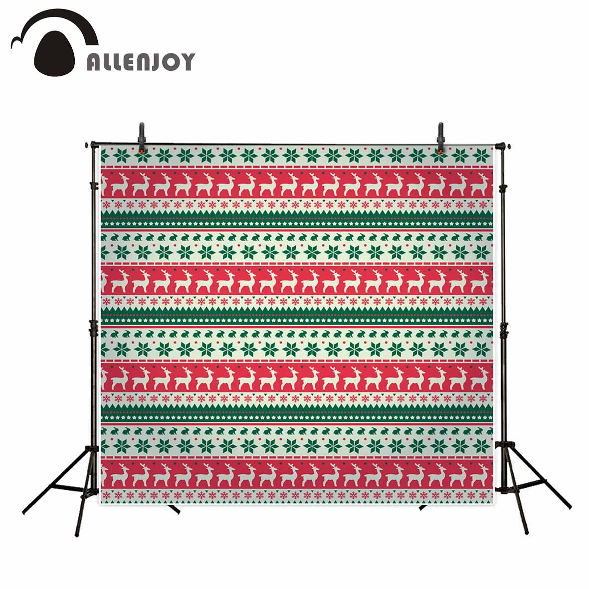 Allenjoy photography background Sweater repeats elk rabbit green christmas professional festival camera backdrop photographic