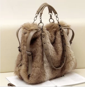 Women Leather Handbag Faux Fur Bags Velvet Shoulder Cross Body Messenger In From Luggage On Aliexpress