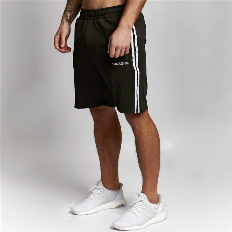 Shorts Men Striped Sporting Beach Trousers Cotton Bodybuilding Sweatpants Fitness Short Jogger Casual Gyms Short Cargo Shorts