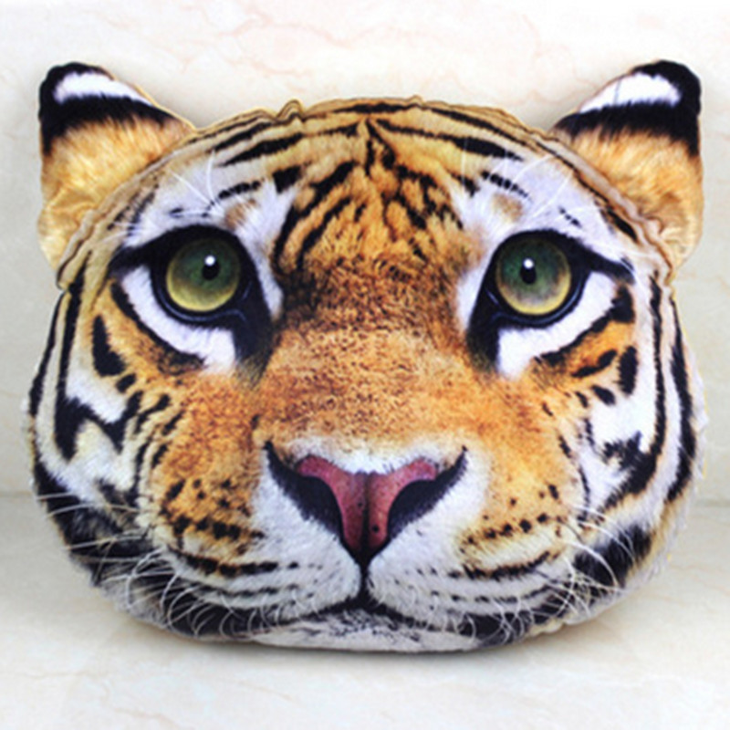 Free Shipping +2016 New Lion Tiger Leopard Pillow Pillow Adorable Cartoon Animal 3D Send Birthday Gift Pillow And Creative Tide