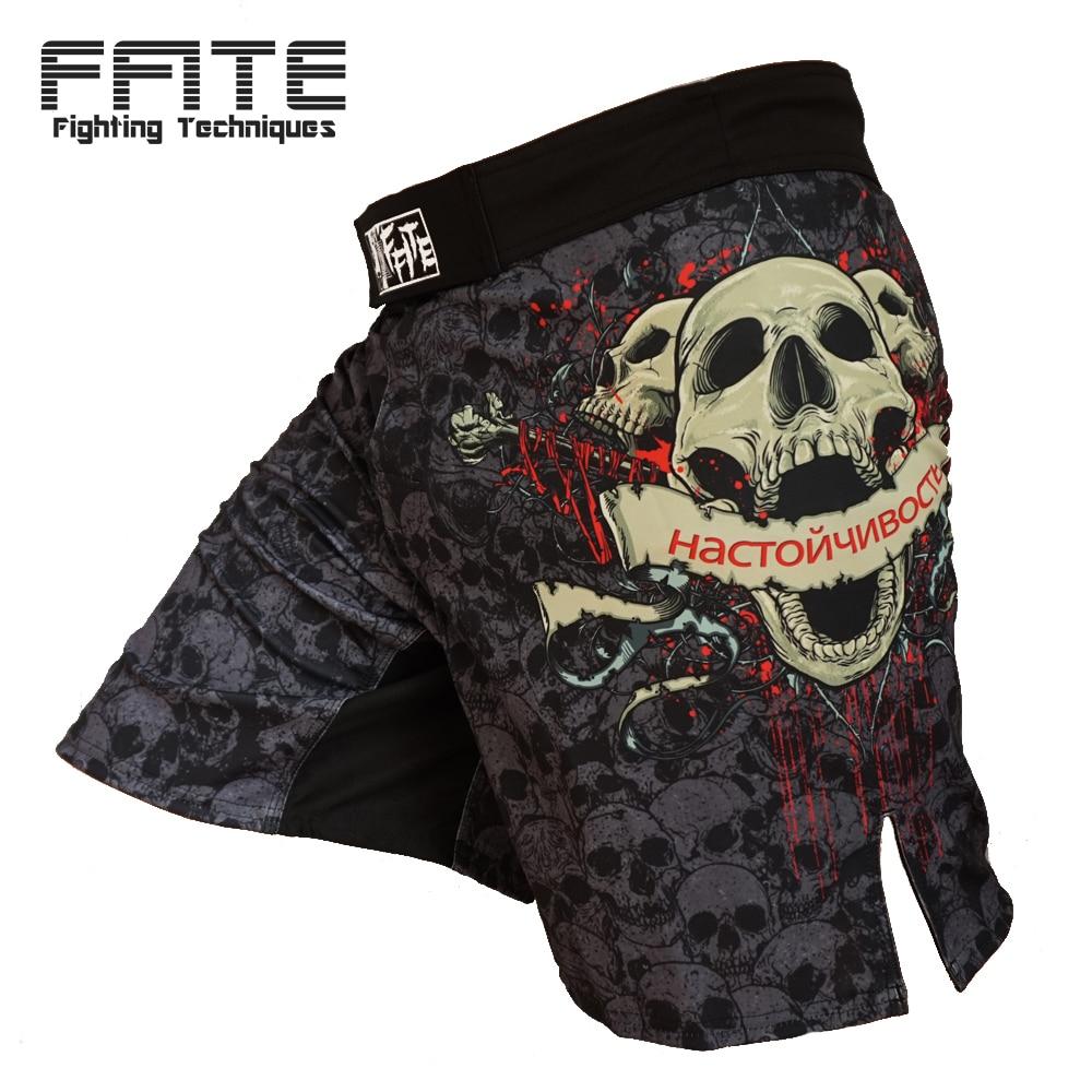 FFITE boxing sports font b fitness b font training trunks short Skull sanda boxing shorts muaythai