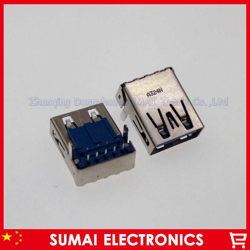 10pcs Original new 3.0 USB female Jack/sockect/connector 2 foot For DELL Samsung SONY ASUS HP Laptop USB connector