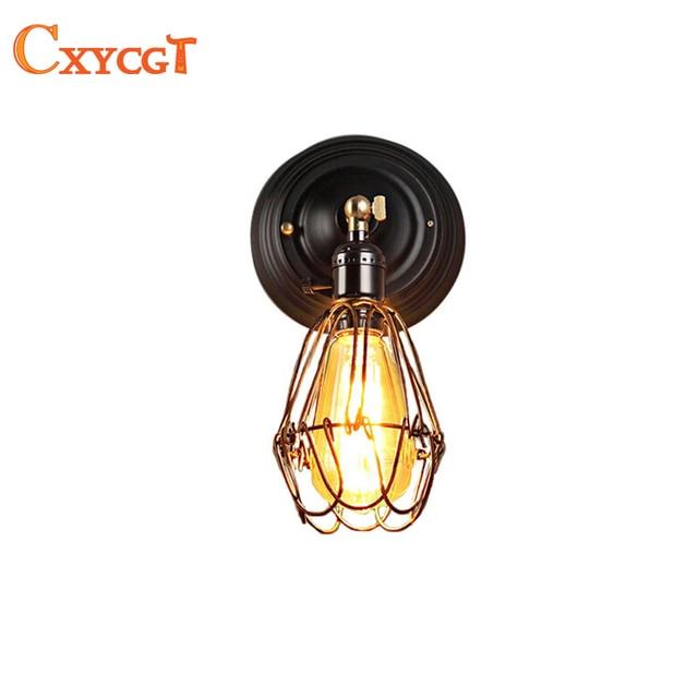 Fil Cage éclairage Mural Applique Edison Industrielle Lampe Murale 110 V ~  240 V Art Déco