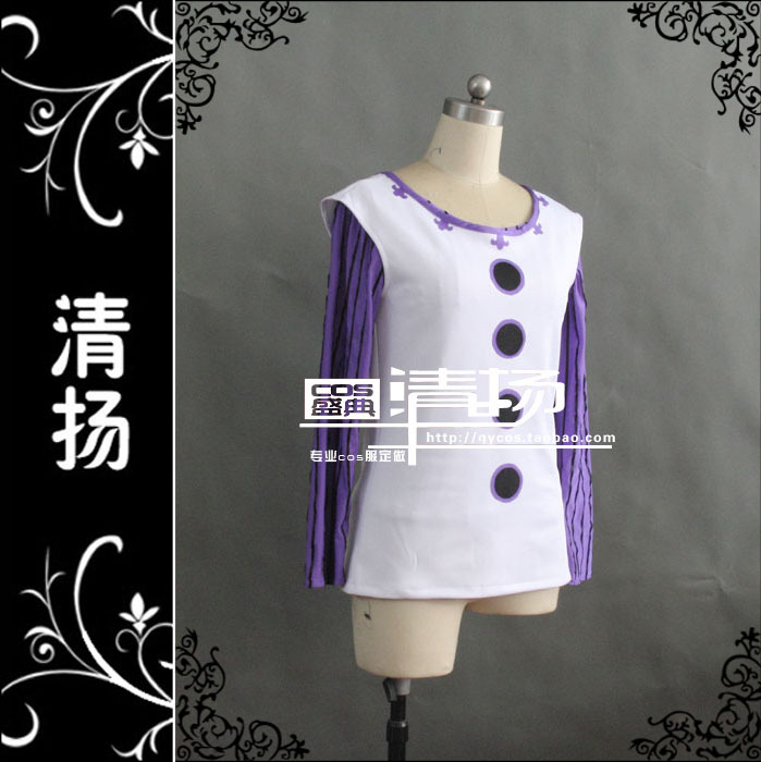 New Top Quality The Seven Deadly Sins Lust Gowther Cosplay Costume Vest+T shirt