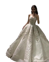 High Quality New Fashion 2018A Line Lace Beading Vintage Formal White Or Ivory Wedding Dresses Wedding