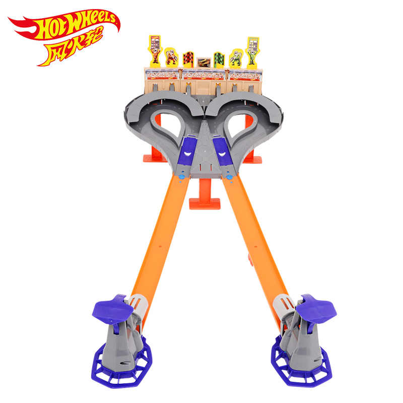 Hotwheels pista coche de juguete de carrera niños juguetes de plástico Metal coches en miniatura máquinas de juguetes para niños Brinquedos Educativo CDL49